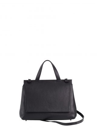 ADA shoulder bag in black calfskin leather | TSATSAS