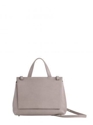 ADA shoulder bag in grey calfskin leather | TSATSAS