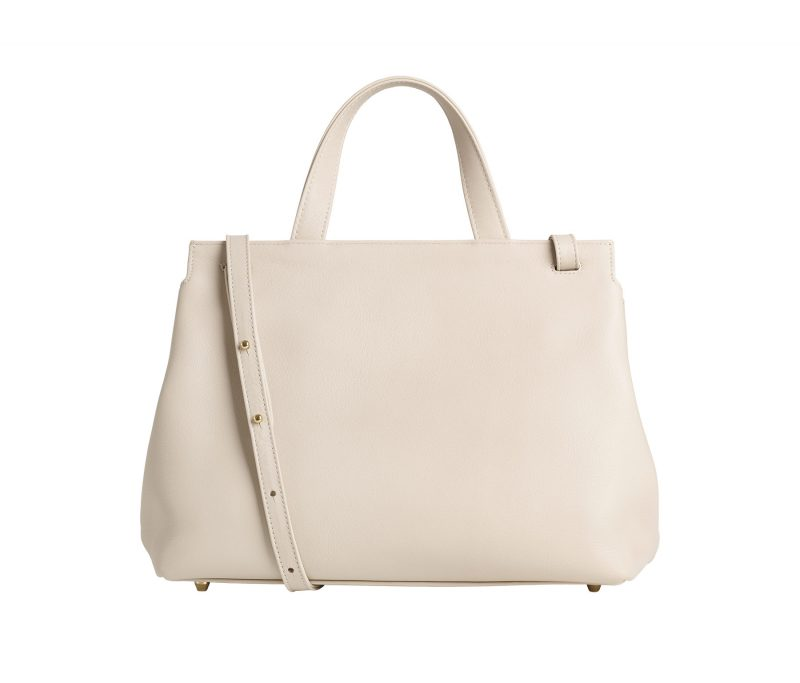 ADA shoulder bag in ivory calfskin leather | TSATSAS