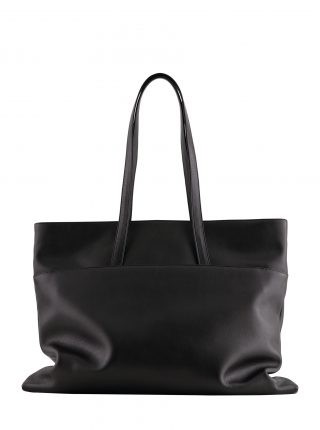 ATLAS shoulder bag in black calfskin leather | TSATSAS