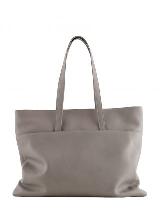 ATLAS shoulder bag in grey calfskin leather | TSATSAS