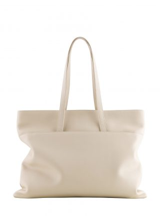 ATLAS shoulder bag in ivory calfskin leather | TSATSAS