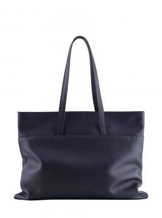 ATLAS shoulder bag in navy blue calfskin leather | TSATSAS