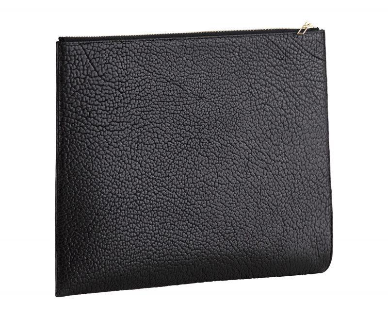 BIKO portfolio in black bison leather | TSATSAS