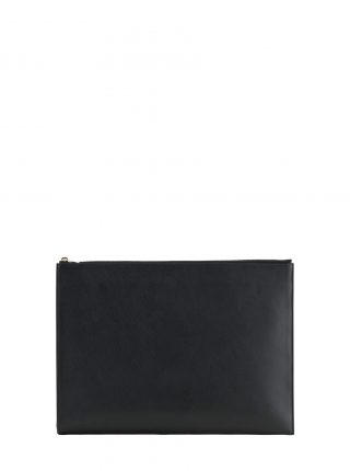 BIKO portfolio in black calfskin leather | TSATSAS
