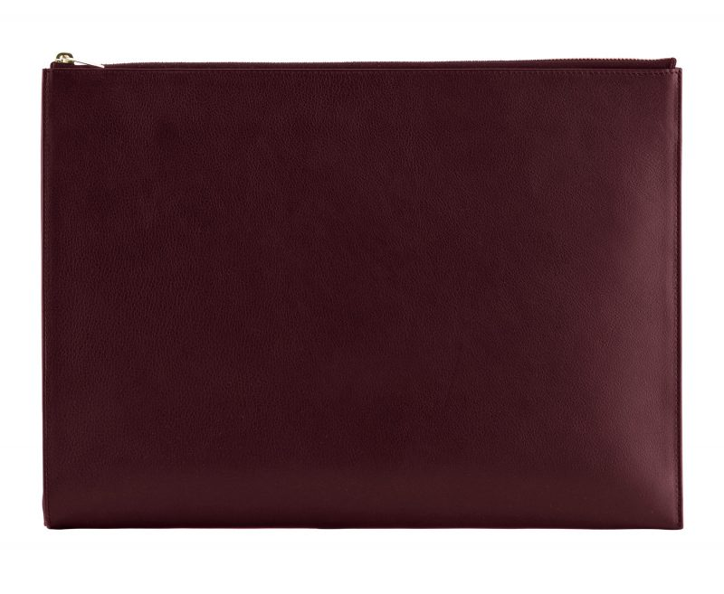 BIKO portfolio in burgundy calfskin leather | TSATSAS