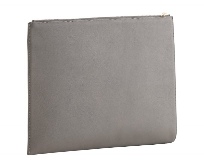 BIKO portfolio in grey calfskin leather | TSATSAS