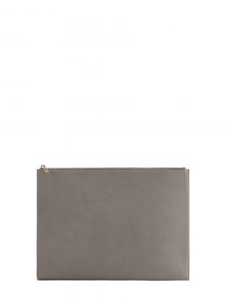 BIKO portfolio in grey calfskin leather | TSATSAS