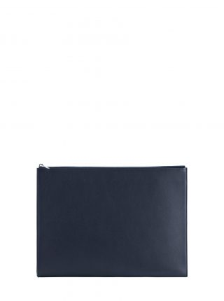 BIKO portfolio in navy blue calfskin leather | TSATSAS