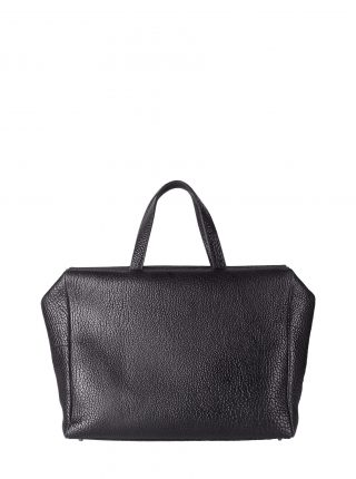 COEN tote bag in black bison leather | TSATSAS