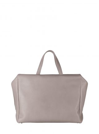 COEN tote bag in grey calfskin leather | TSATSAS