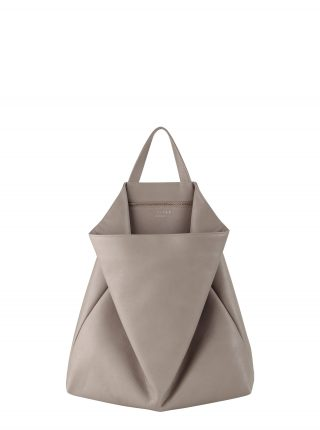 FLUKE tote bag in grey calfskin leather | TSATSAS