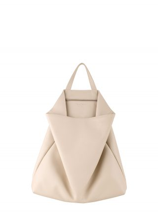 FLUKE tote bag in ivory calfskin leather | TSATSAS