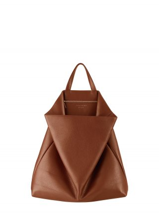 FLUKE tote bag in tan calfskin leather | TSATSAS