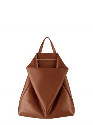 FLUKE tote bag in tan calfskin leather | TSATSAS