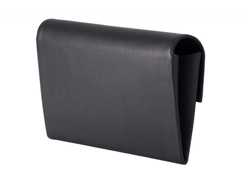 HAZE clutch bag in black calfskin leather   TSATSAS