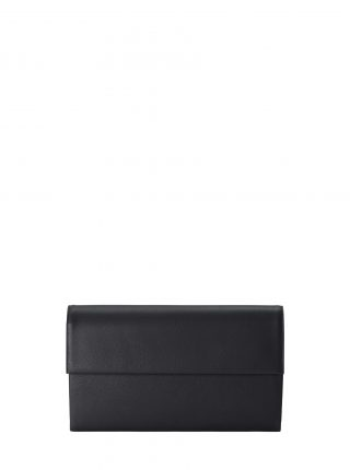 HAZE clutch bag in black calfskin leather | TSATSAS