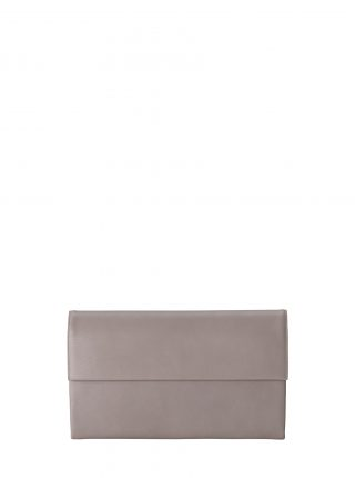 HAZE clutch bag in grey calfskin leather | TSATSAS