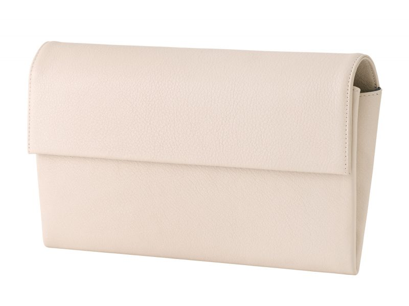 HAZE clutch bag in ivory calfskin leather   TSATSAS