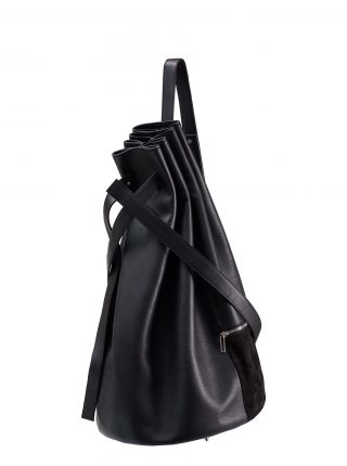 KILO seaman's bag in black calfskin leather | TSATSAS