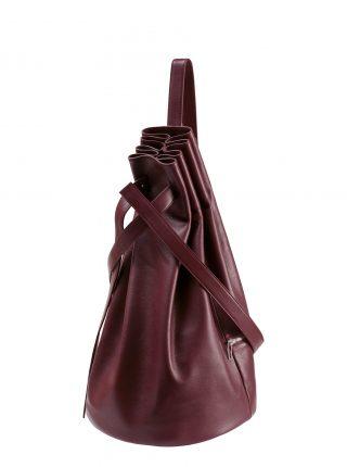 KILO seaman's bag in burgundy calfskin leather | TSATSAS