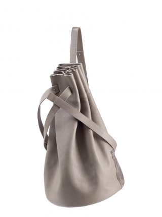 KILO seaman's bag in grey calfskin leather | TSATSAS