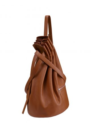 KILO seaman's bag in tan calfskin leather | TSATSAS