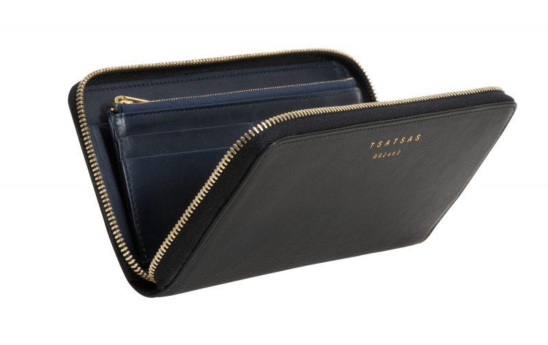 KOBO 2 wallet in black calfskin leather | TSATSAS