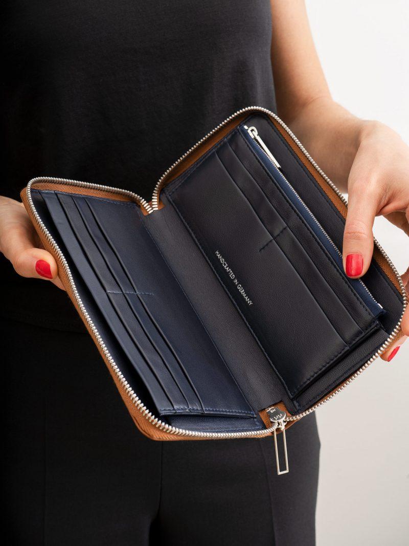 KOBO 2 wallet in tan calfskin leather | TSATSAS