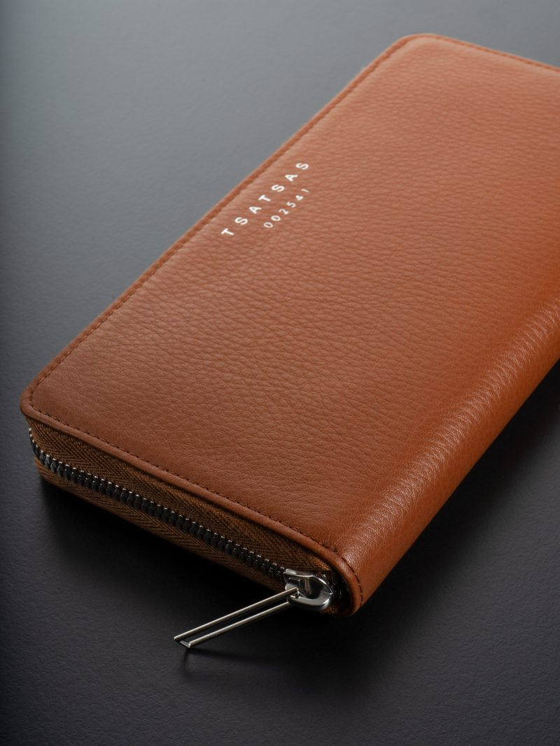 KOBO 2 wallet in tan calfskin leather | TSATSAS