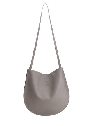 CALE shoulder bag in grey calfskin leather | TSATSAS