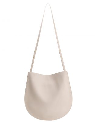 CALE shoulder bag in ivory calfskin leather | TSATSAS