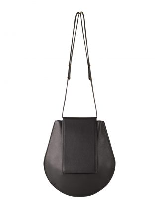 CY shoulder bag in black calfskin leather | TSATSAS