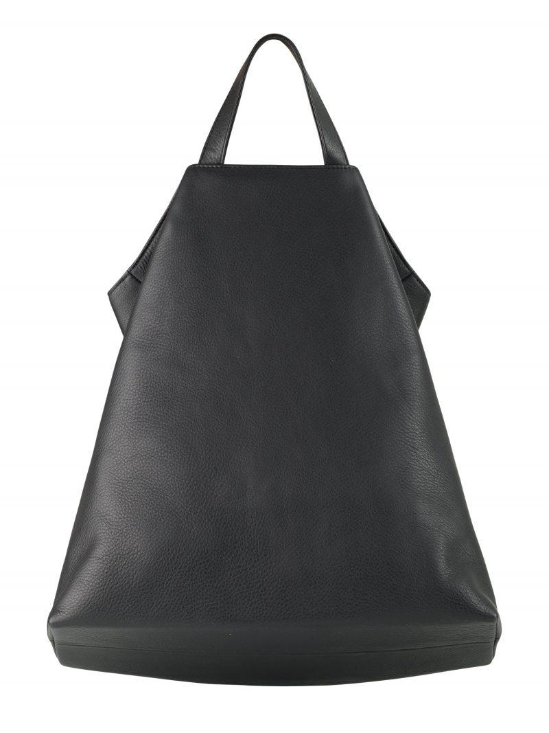 FLUKE tote bag in black calfskin leather | TSATSAS