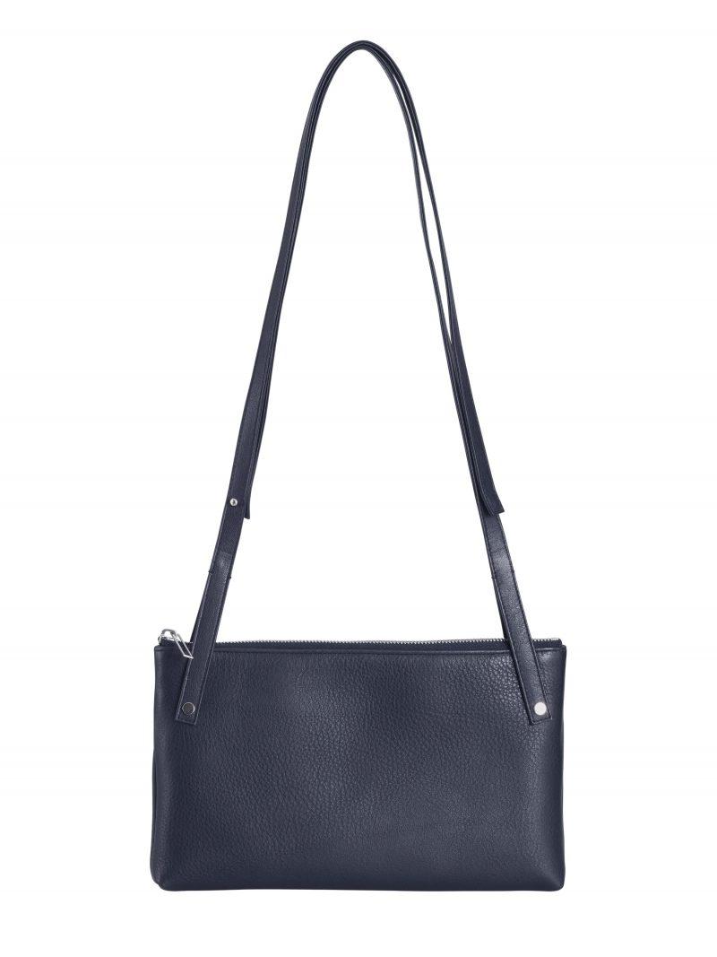 KRAMER 1 shoulder bag in navy bluecalfskin leather | TSATSAS