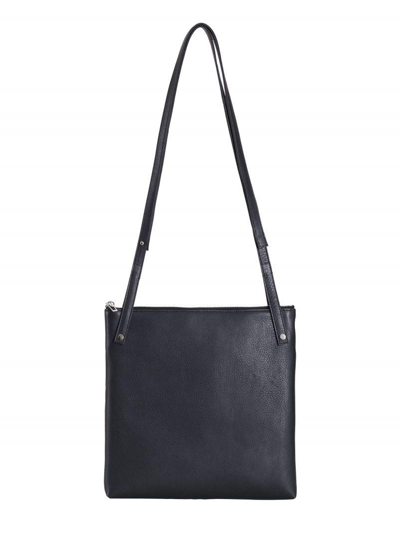 KRAMER 2 shoulder bag in black calfskin leather | TSATSAS