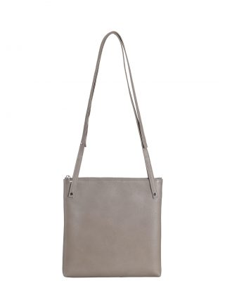 KRAMER 2 shoulder bag in grey calfskin leather | TSATSAS