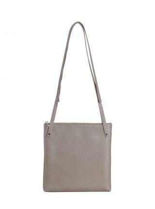 KRAMER 2 shoulder bag in grey calfskin leather | TSATSAS