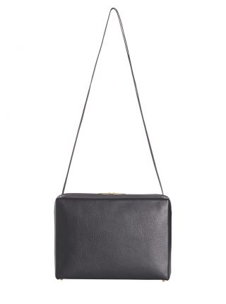 LINDEN 43 shoulder bag in black calfskin leather | TSATSAS