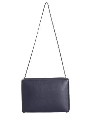 LINDEN 43 shoulder bag in navy blue calfskin leather | TSATSAS