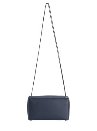 LINDEN shoulder bag in navy blue calfskin leather | TSATSAS