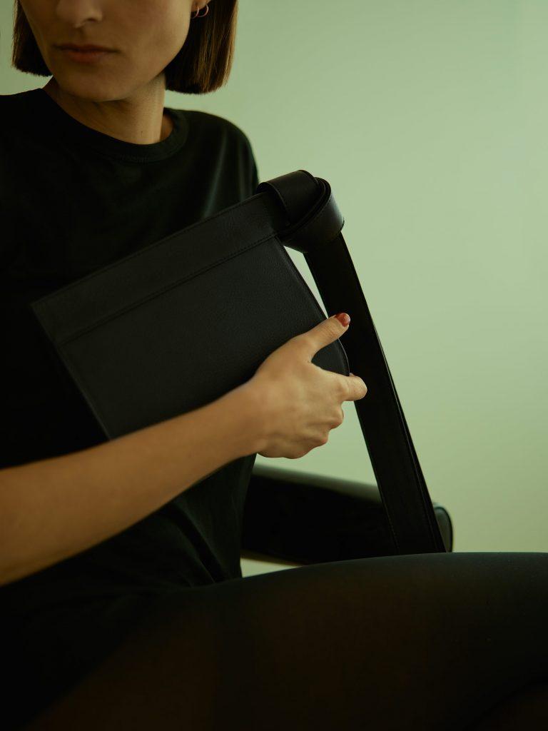 TAPE XS clutch bag by Gerhardt Kellermann | TSATSAS