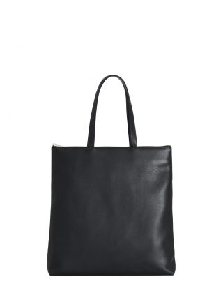 LUCID L tote bag in black calfskin leather | TSATSAS