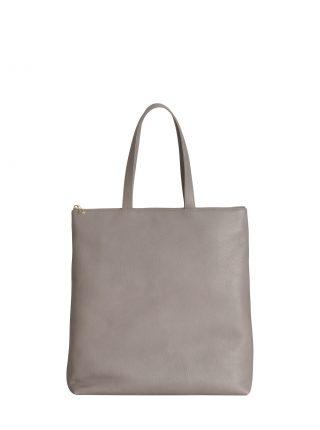 LUCID L tote bag in grey calfskin leather | TSATSAS
