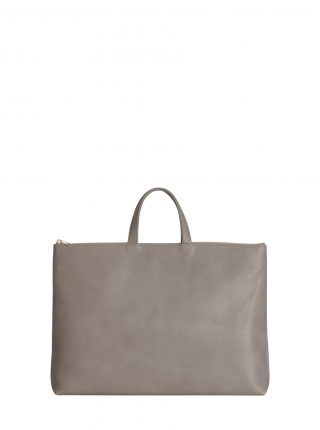 LUCID NINETY tote bag in grey calfskin leather | TSATSAS