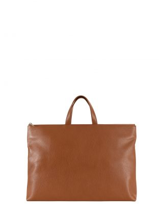 LUCID NINETY tote bag in tan calfskin leather | TSATSAS