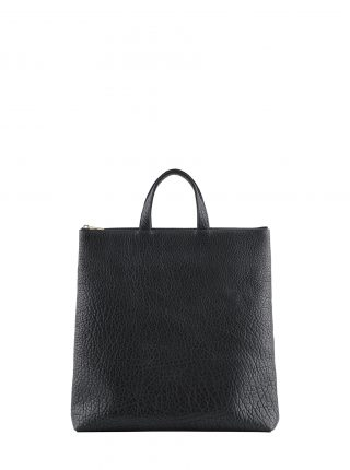 LUCID tote bag in black bison leather | TSATSAS