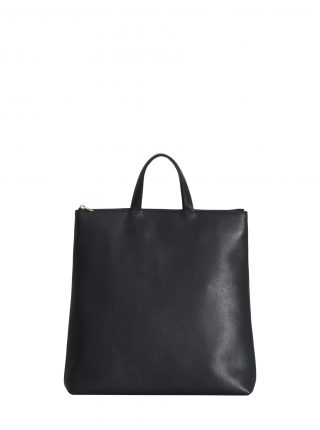 LUCID tote bag in black calfskin leather | TSATSAS