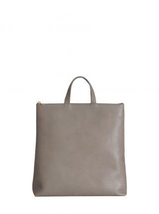 LUCID tote bag in grey calfskin leather | TSATSAS
