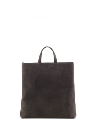 LUCID tote bag in black grey nubuck leather | TSATSAS